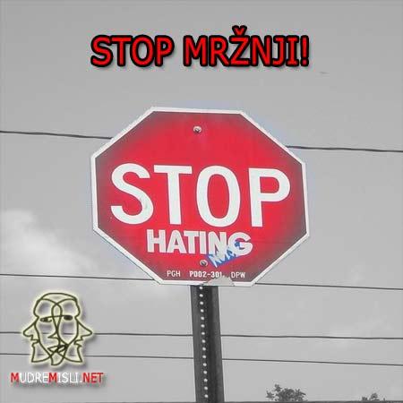 Stop mržnji.