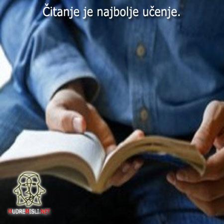 Čitanje je najbolje učenje.